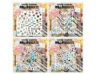"""Janet and Abs Stencil Bundle 6"""" by 6"""" - 4 Stencils - 114, 116, 117, 118"""