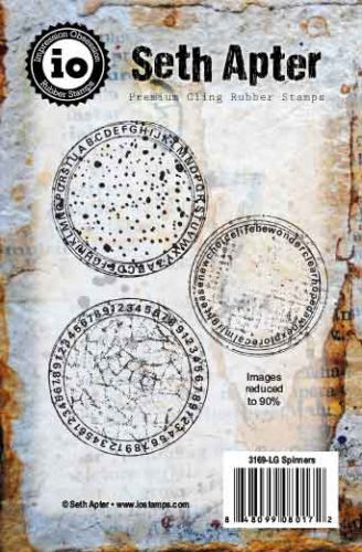 Spinners Cling Rubber Stamps by Seth Apter