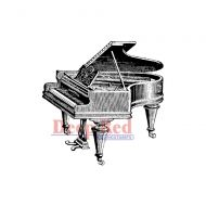 Piano, Baby Grand - Deep Red Cling Stamp