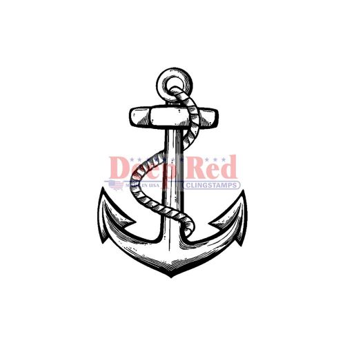 Anchor - Deep Red Cling Stamp