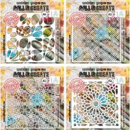 Aall and Create Stencil Bundle (41, 52, 53, 56) Size 6 by 6 inch