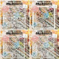 Aall and Create Stencil Bundle (54, 55, 78, 80) Size 6 by 6 inch