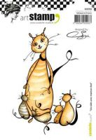 A hug with mom cat by Soizic (SA60366) Cling Stamp A6 - Carabelle Studio