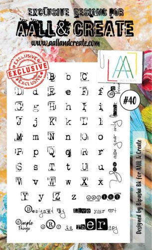 No. 40 Aall and Create Stamp Set (A6)