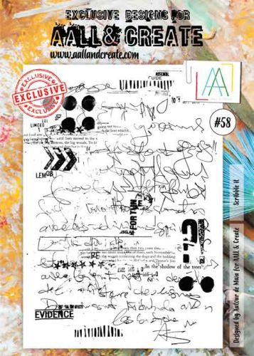 No. 58 Aall and Create A4 Stamp Set by Autour de Mwa