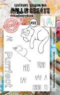 No. 100 Furry Friends 1 Aall and Create A7 Stamp Set by Olga Heldwein
