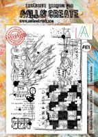 No. 108 Checkered Queen Aall and Create Stamp Set (A4)