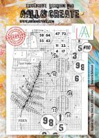 No. 110 Numbered Botanical Aall and Create Stamp Set (A4)