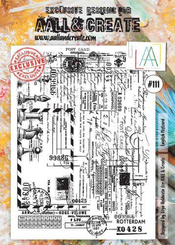 No. 111 English Postcard Aall and Create Stamp Set (A4)