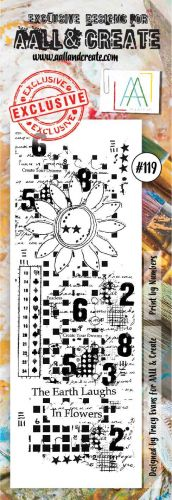 No. 119 Print by Numbers Aall and Create Stamp Set Border Stamp Set