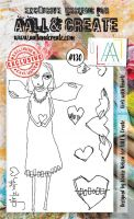 No. 130 Girlz with Heartz Aall and Create Stamp Set (A6)