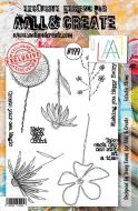 No. 199 Eclectic Stems Aall and Create Stamp Set (A5) - AAL00199