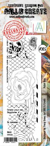 No. 205 Postal Rose Aall and Create Stamp Set (Border) - AAL00205