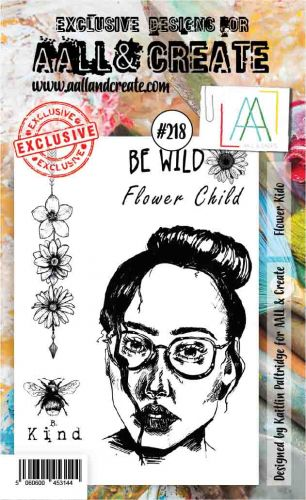 No. 218 Flower Kido Aall and Create Stamp Set (A6) - AAL00218