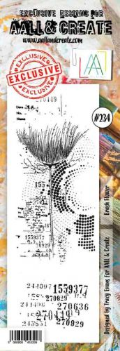 No. 234 Brush Flower Aall and Create Stamp Set (Border) - AAL00234
