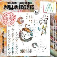 No. 6 Aall and Create Stencil - 6 in by 6 in (15cm by 15cm)