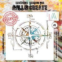No. 8 Aall and Create Stencil - 6 in by 6 in (15cm by 15cm)