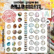 No. 9 Aall and Create Stencil - 6 in by 6 in (15cm by 15cm)