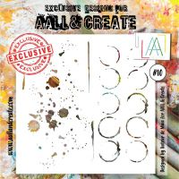 No. 10 Aall and Create Stencil - 6 in by 6 in (15cm by 15cm)