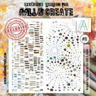 No. 13 Aall and Create Stencil - 6 in by 6 in (15cm by 15cm)