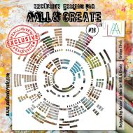 Broken Circle - No. 28 Aall and Create Stencil - 6 in by 6 in (15cm by 15cm)