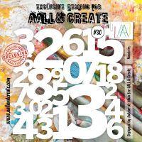 Numbers - No. 30 Aall and Create Stencil - 6 in by 6 in (15cm by 15cm)