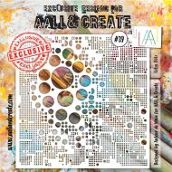 No. 39 - Lotza Dotz - Aall and Create Stencil - 6 in by 6 in (15cm by 15cm)