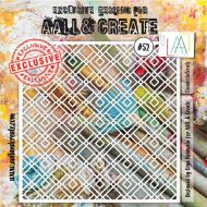 Quadrilaterals - No. 52 Aall and Create Stencil - 6 in by 6 in (15cm by 15cm)