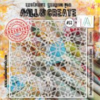 Florastella - No. 53 Aall and Create Stencil - 6 in by 6 in (15cm by 15cm)
