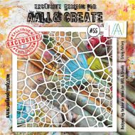 Crazy Paving - No. 55 Aall and Create Stencil - 6 in by 6 in (15cm by 15cm)