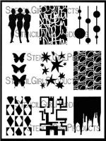 ATC Mixup Dube designed by Carolyn Dube for Stencil Girl (9 inch by 12 inch)
