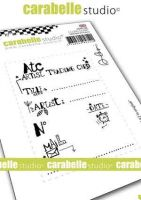 ATC No. 2 Cling Stamp A7 in english for Carabelle Studio by Alexi (sa70174e)