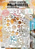 No. 87 Totally Dotty Stencil (A4) by Autour De Mwa for Aall and Create