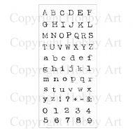 Alphabet Hobby Art Clear Stamp Set (CS076D)