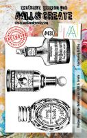 Apothecary Bottles No. 431 Aall and Create A7 sized stamp by Olga Heldwein (AAL00431)