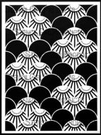 Art Deco Summit Stencil (L757) designed by Nathalie Kalbach for StencilGirl 9 inch by 12 inch