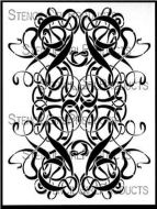 Art Nouveau Stencil (L273) designed by Lizzie Mayne for StencilGirl 9 inch by 12 inch