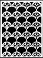 Art Nouveau Wallpaper Stencil (L756) designed by Nathalie Kalbach for StencilGirl 9 inch by 12 inch