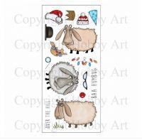 CS110D Hobby Art Stamps - Baa-Humbug