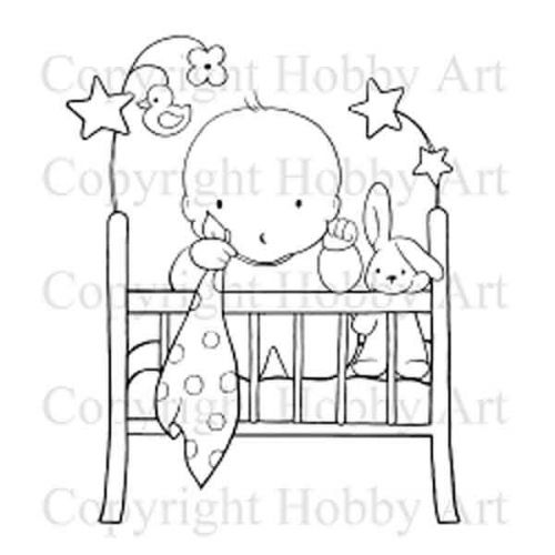 Baby Cot Stamps Hobby Art