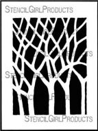 Bare Trees Stencil (L704) designed by Roxanne Evans Stout for StencilGirl (12 inch by 12 inch)