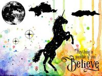 Believe In Unicorns Visible Image Clear Stamp Set