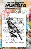 Bird Collage No. 435 Aall and Create A7 sized stamp by Tracy Evans (AAL00435)