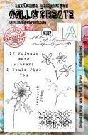 No. 332 Birthday Blooms Aall and Create A5 Stamp