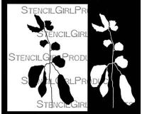 Botanical Stem Stencil (L773) designed by Rae Missigman for StencilGirl (12 inch by 12 inch)