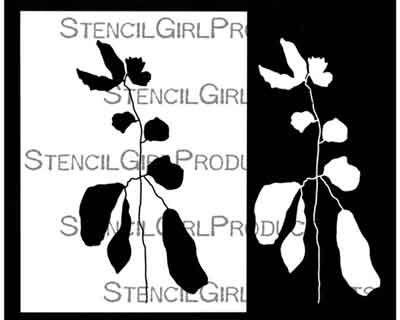 Botanical Stem Stencil (L773) designed by Rae Missigman for StencilGirl (12 inch by 12 inch)
