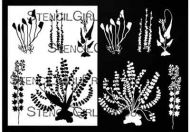 Botanical Wildflowers Stencil (L774) designed by Rae Missigman for StencilGirl (12 inch by 12 inch)