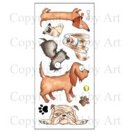 Dogz Hobby Art Clear Stamp Set