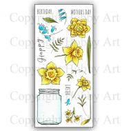 CS162D Daffs and Bells Hobby Art Stamps