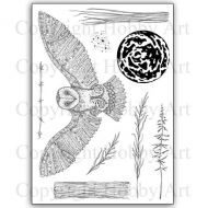 CS167D Orla Owl Hobby Art Stamps